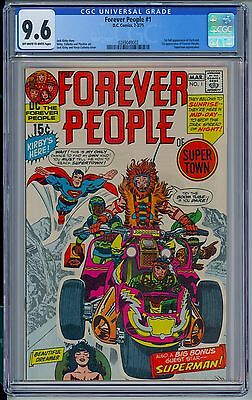 DC FOREVER PEOPLE #1 - CGC 9.6 OW-W Pages - NM+ First Full DARKSEID
