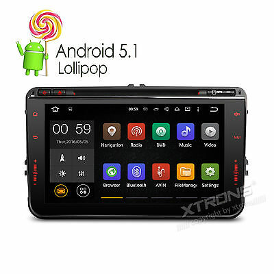"Autoradio Android 5.1.1 DAB+ 8"" DVD GPS Wifi für VW Passat Golf Polo Touran Seat"