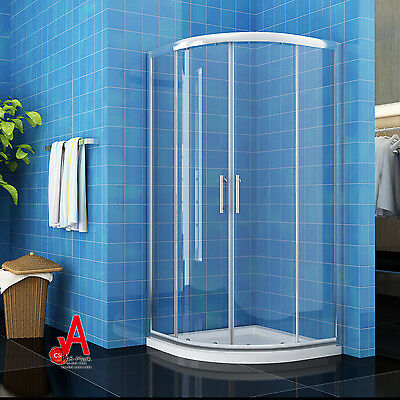 900x900x1900mm Round Curved Sliding Shower Screen Cubical