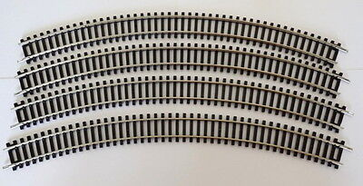 "Hornby R.609 Double Curve 3rd Radius 505mm/19.9"" x 8 new ex-set #2 [20/12]"