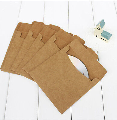 50 x Kraft CD DVD sleeve envelopes cd packaging bags (250gsm thick paper)