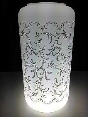 French FROSTED GLASS Light Shade 1970's MINT NIB Vintage VIANNE Milk White Blown