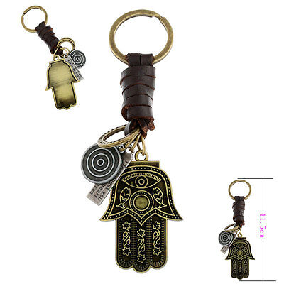 Sacred Key Chain Ring Turkish Eye Protection Hamsa Luck Pendant Kabbalah Hebrew