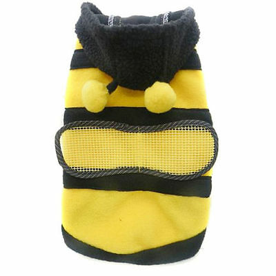 Cute Pet Dog Cat Warm WInter Sweater Hoodie Coat Bee Costume Dog Puppy Clothes