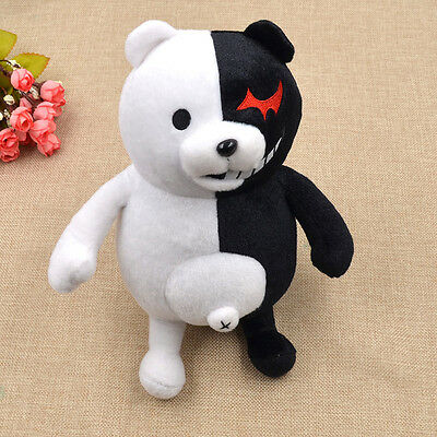 Dangan Ronpa Mono Kuma Monokuma White&Black Bear Doll Toy Soft Plush Anime New