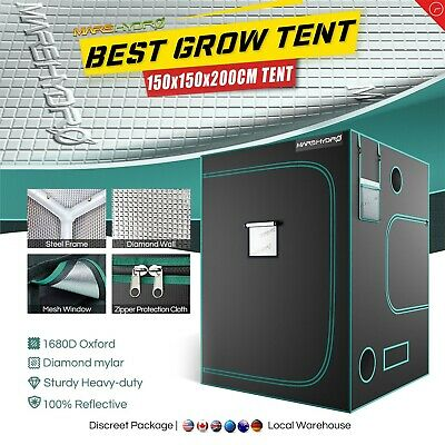 "57""x57""x78"" Indoor Grow Tent 100% Reflective Mylar Hydroponic Non Toxic Box Room"