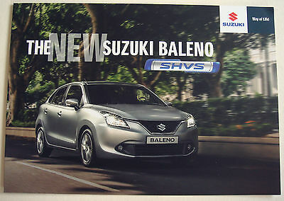 Suzuki . Baleno . The New Suzuki Baleno SHVS . May 2016 Sales Leaflet