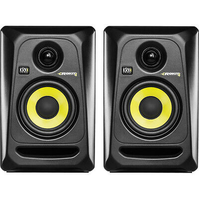 Krk Rp-4 G3 Rp4 G3 Rokit Studio Monitors Active Black Couple Pair (2) - Offer