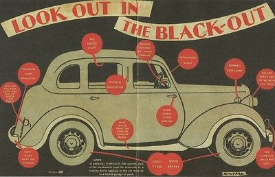 Look Out In The Blackout Poster The Blitz World War II 1939-1945 Home Front