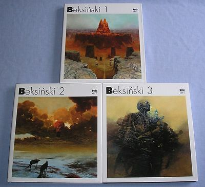 Zdzislaw Beksinski 3 Volumes - Complete Set / Painting Drawing Photomontage