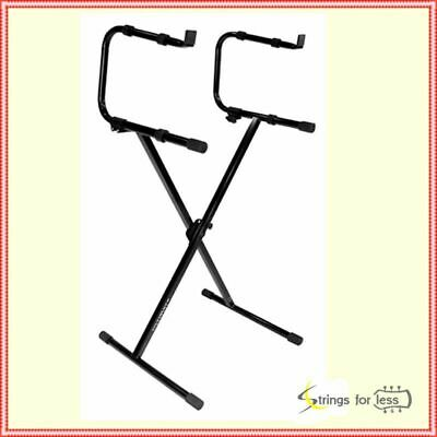 Ultimate Support IQ-1200 2-Tier X-Style Keyboard Stand Holds 150lb