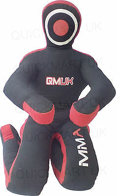 QMUK MMA Grappling Judo Grapling Dummy - Sitting Position hands front Canvas 70""
