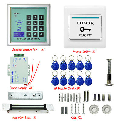 396 LBs Kit Electric Door Lock Magnetic Access Control Card Password System WB