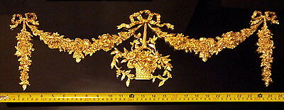 French Antique Louis Xvi Gold Gilt Dore Resin Wall Door Moulding Decoration