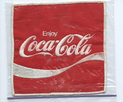 Enjoy Coca-Cola large size patch 6 X 6 cheese cloth back