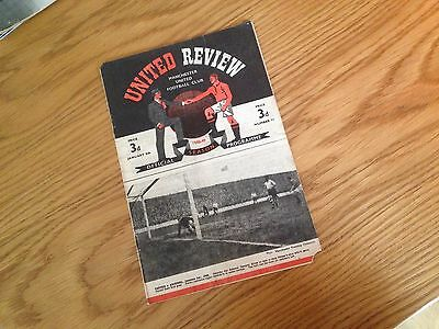1948/49 MANCHESTER UNITED MAN UTD V BOURNEMOUTH FA CUP 3rd FOOTBALL PROGRAMME