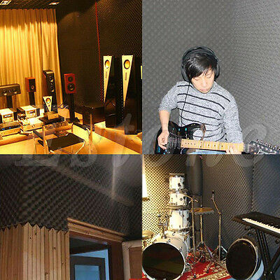 50x50x3cm Acoustic Soundproof Sound Thick Absorption Pyramid Foam Board Studio