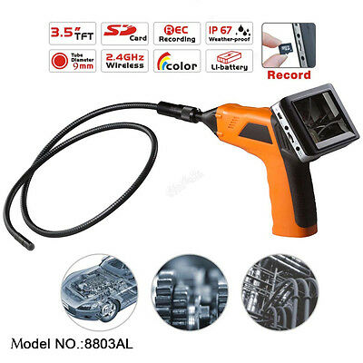 """Wireless Inspection Camera 3.5"""" Removeable Monitor Endoscope Snake Cam DVR"""