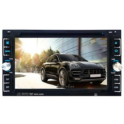 "2Din 6.2"" Car HD In Dash Bluetooth TV Radio Stereo CD DVD MP3 Player +Camera"