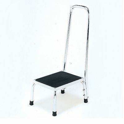 Step with handrail with non slip platform  for houshold / bathroom use
