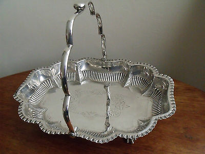 Thomas White Silver Plated Cake/Fruit Bowl with Handle