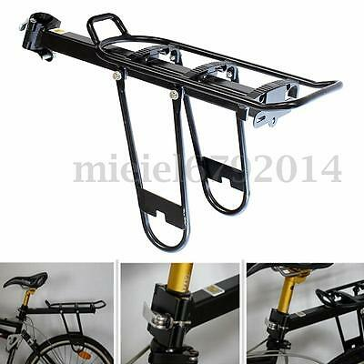 Mtb Bike Bicycle Cycling Rear Seat Carrier Bracket Rack Bag Luggage Carrier