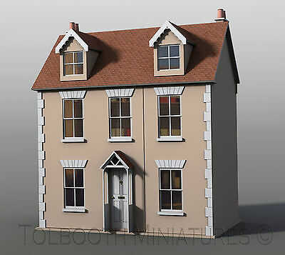 Willow Cottage Dolls House 1:12 Scale -  Unpainted Dolls House Kit