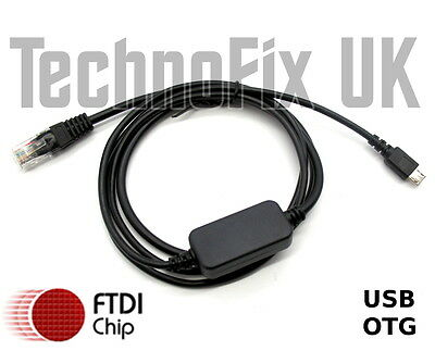 FTDI Micro USB B OTG to RJ45 serial/RS232 console cable for Cisco routers