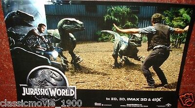 "Jurassic World Original  7 Lobby Cards Set # 1 Big Size 11"" X 17"""