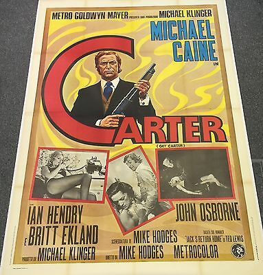 GET CARTER linen backed Italian Two Panel (1971) Art of Michael Caine (Large)