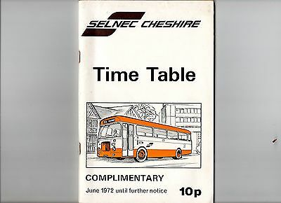 Selnec Cheshire (Cheshire Bus Company Ltd) Time Table 1972