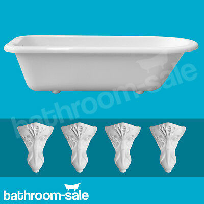 Oxford Traditional Roll Top Bath inc White Resin Feet | RRP: £569