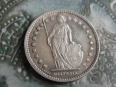 switzerland .835 silver 1 franc coin 1921 very high grade