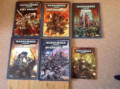 warhammer 40k Codex Collection. Elder, Chaos, Space Marines, Grey Knights, Guard