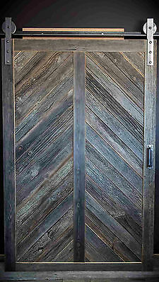Vintage barn house luxury wooden sliding doors hand made natural antique wood