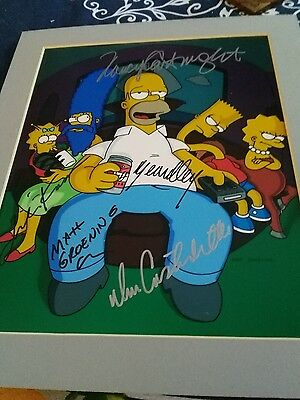 The simpsons tv cartoon cast members  hand  signed photo