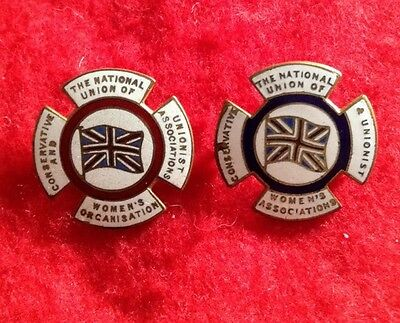 Two Vintage Badges The National Union Of Womens Orgainisastion