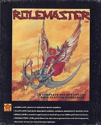 Rolemaster 1st Ed. 1982 Fantasy Role Playing Game Box Set MINT I.C.E.