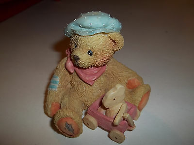 "Cherished Teddies  Figurine - Harrison ""we're Going Places""  1992"