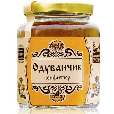 Dandelion Jelly Natural Siberian Russian Jam Organic Food Preserves