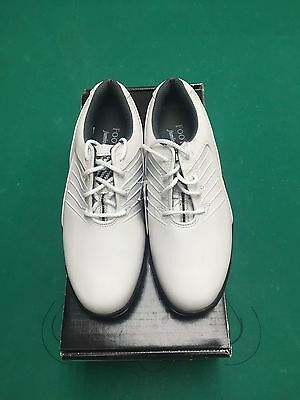 Footjoy Junior Golf Shoes Size 2 In White