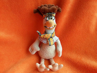 "Chicken Run Mac Soft toy 10"" scarf and glasses top-notch chicken"