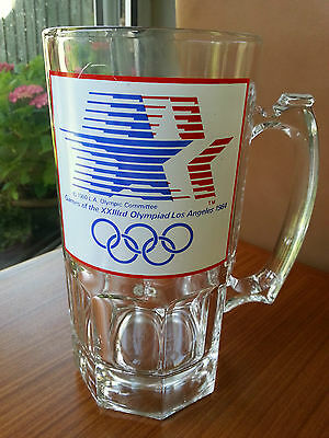 Games of the XXIIIrd Olympiad Los Angeles Olympic 1984 drinking glass tankard 8""