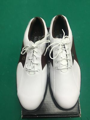 Footjoy Softjoy Mens Golf Shoes Size 11 In Brown And White