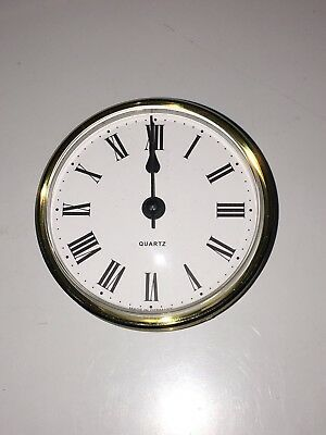Caravan/ Motorhome - Clock - Round Brass Surround - Quartz - Me505