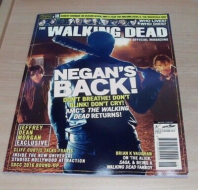 The Walking Dead magazine #18 AUTUMN 2016 Jeffrey Dean Morgan, Cliff Curtis &
