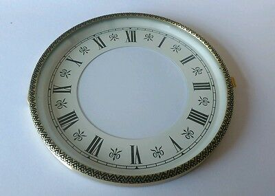 Embossed Brass Clock Bezel and Glass 130mm Roman Dial
