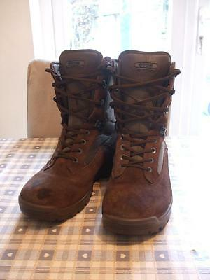 Men's Mens YDS Falcon Desert Patrol Army Boots Brown Suede UK 10
