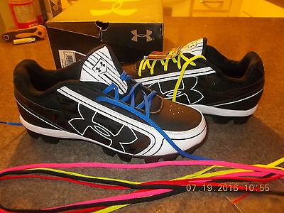 UNDER ARMOUR Womens GLIDE RM  CC 1250086-011 Black NEW Softball Cleat size 11