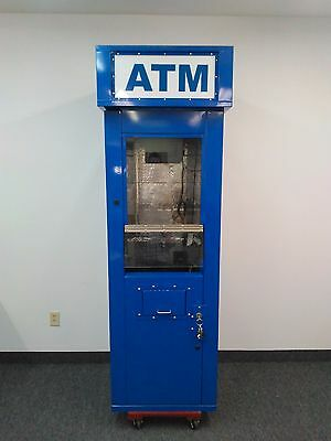 Walk up ATM machine blue Diamond RAL 5017 surround security cabinet